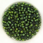 miyuki seed beads 8/0 - fancy lined soft chartreause green