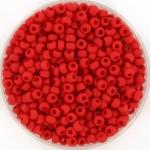 miyuki rocailles 8/0 - opaque matte red