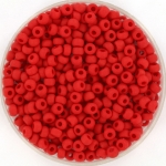miyuki seed beads 8/0 - opaque matte red
