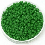 miyuki seed beads 8/0 - opaque green