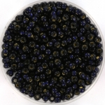 miyuki seed beads 8/0 - duracoat silverlined dyed dark navy blue