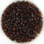 miyuki rocailles 8/0 - transparant picasso dark topaz