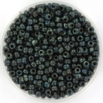 miyuki seed beads 8/0 - opaque picasso dark teal