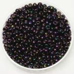 miyuki seed beads 8/0 - metallic iris dark plum