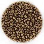 miyuki seed beads 8/0 - metallic dark bronze