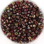 miyuki seed beads 8/0 - Czech coating magic wine
