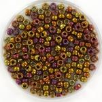 miyuki seed beads 8/0 - metallic gold iris