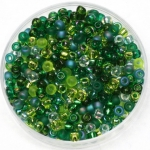 miyuki seed beads 8/0 - mix ever green