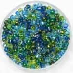 miyuki rocailles 8/0 - mix electric blue lagoon