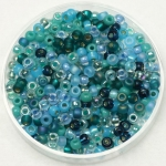 miyuki seed beads 8/0 - mix touch of teal