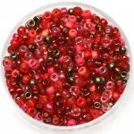 miyuki seed beads 8/0 - mix magma