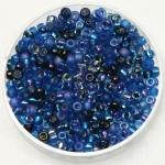 miyuki seed beads 8/0 - mix deep blue sea