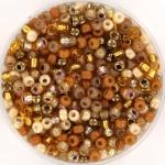 miyuki seed beads 8/0 - sunset