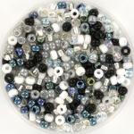 miyuki rocailles 8/0 - black and white