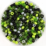 miyuki seed beads 8/0 - forest