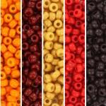 miyuki seed beads 8/0 - red sun