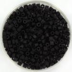 miyuki hex cut seed beads 8/0 - matte black