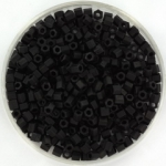 miyuki hex cut rocailles 8/0 - matte black