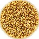 miyuki spacer 3x1.3mm - duracoat galvanised gold