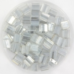 miyuki tila 5x5 mm - transparant luster silver gray gold