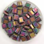 miyuki tila 5x5 mm - opaque luster purple gray rainbow