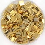 miyuki tila 5x5 mm - plated gold