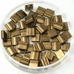 miyuki tila 5x5 mm - metallic matte dark bronze