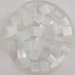 miyuki tila 5x5 mm - silk satin crystal ab