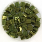 miyuki tila 5x5 mm - olive gold luster