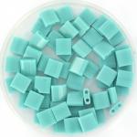 miyuki tila 5x5 mm - opaque turquoise green