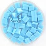 miyuki tila 5x5 mm - opaque turquoise blue