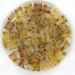 miyuki tila 5x5 mm - transparant picasso light topaz