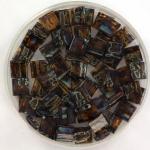 miyuki tila 5x5 mm - transparant picasso dark topaz