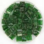 miyuki tila 5x5 mm - transparant green picasso