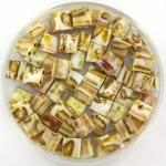 miyuki tila 5x5 mm - opaque picasso yellow