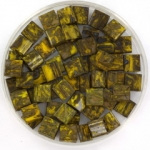 miyuki tila 5x5 mm - opaque picasso dark yellow