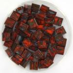 miyuki tila 5x5 mm - opaque picasso orange