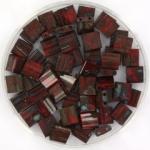 miyuki tila 5x5 mm - opaque picasso red