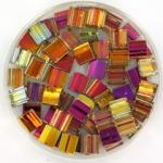 miyuki tila 5x5 mm - Czech coating crystal marea