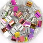 miyuki tila 5x5 mm - Czech coating crystal vitrail