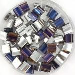 miyuki tila 5x5 mm - Czech coating crystal heliotrope