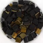 miyuki tila 5x5 mm - Czech coating matte valentinite