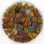 miyuki tila 5x5 mm - metallic iris gold