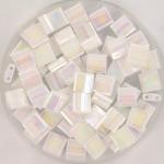 miyuki tila 5x5 mm - white pearl ab