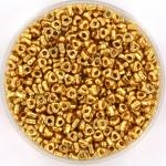 miyuki triangle spacer 2.8x1.3mm - duracoat galvanized gold