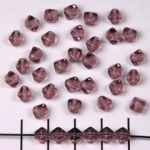 conical 6 mm - light puple amethyst
