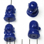 lief monnikje zittend lachend - donkerblauw