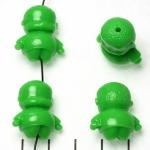 lief monnikje staand lachend - groen