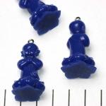 lief monnikje staand biddend - donkerblauw