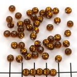 murano beads - brown